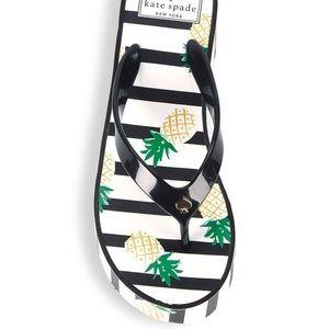 Kate Spade Pineapple Striped Platform Flip Flops
